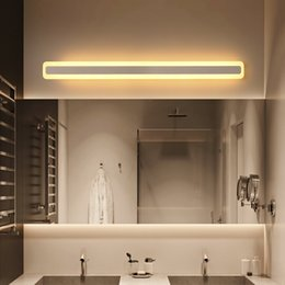 schwarz / weiß Moderne LED-Spiegelleuchte Wandleuchte 0.4M ~ 1.2M Tisch Bad  Dressing Licht Acryl-Wandleuchte Schlafzimmer Lampe AC90-260V