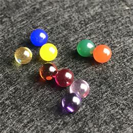 Pipas de fumar jade online-Nuevo 6mm Terp Pearl Ruby Jade Diamond Ball Colorido Rojo Verde Azul Amarillo Terp Perlas para vidrio Tubos de agua para fumar