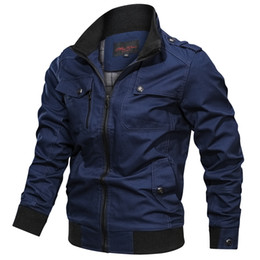 Neue Mens Armee Cotton Pilot Jacken Mantel Armee Männer Bomber Jacken Herbst Frachtfliegerjacke Windjacke Tactical Coats Male Large Size