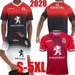 Roupas esportivas on-line-Top qualidade 2020 venda quente novo Toulouse Rugby Jersey Toulouse Rugby Jersey Sportswear Rei Super Rugby tamanho terno S-5XL