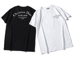 Итальянский классический дизайн канье уэст с коротким рукавом New Give Design Популярная мода Алфавит с принтом Пара удобных футболок от