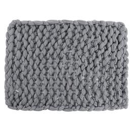 Шерстяное одеяло онлайн-Флис Черное вязаное теплое одеяло Шерсть Толстая линия Throw Home Decor утяжеленное одеяло. 010 6240