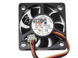 Enfriamiento de 3 hilos online-40x40x10mm FD1240-A3033A 4cm 12V 0.07A 3Wire Cooler fan