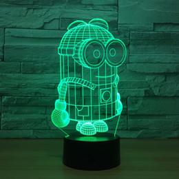 alto-falante de mudança de cor Desconto Jogador Bluetooth com lâmpada LED Banana Pessoas 3D Speaker Bluetooth cabeceira interior cor decoração Mudança Luz para presente das crianças