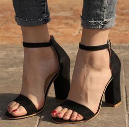 449c76fc93 Women Sandals Ankle Strap Summer Shoes Woman High Heels Sandals Plus Size  43 Chaussures Femme Open Toe Women Summer Sandals discount shoes woman size  43 ...