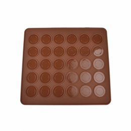 silicone circle mold Coupons - 1 x Silicone Oven Baking Tools Macarons Sheet Mat Mold 28x25cm - 30pcs Circles Brand New Drop Shipping