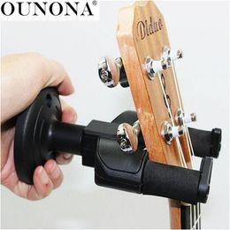 Suporte para guitarras eléctricas on-line-OUNONA Guitar Recados Hanger Monte gancho Stand Holder rack para guitarra elétrica / Acústica / bandolim Ukulele
