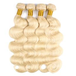 Tecido peruado tecido 14 polegadas on-line-613 Loiro Extensions 4 Ofertas Bundle onda do corpo Virgin Cabelo 10-28 polegadas peruana indiano de Remy do brasileiro Cabelo Humano Weave Bundle