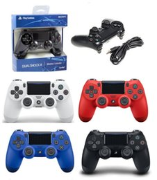 Controlador de juego de buques online-Nueva PS4 controlador de juegos inalámbrico Gamepad Joystick Playstation de alta calidad con paquete minorista envío de DHL gratis