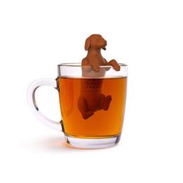 1pc Hot dog Tea Infusore Silicone Black cat Setaccio per tè per dispositivo di fermentazione Filtro per erbe aromatiche Filtro da cucina con scatola di colore cheap kitchen hot box da scatola calda della cucina fornitori
