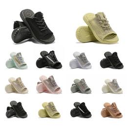 2019 сандалии с платформой 2019 новый GID Clay Synth Lundmark черный белый статический Antlia мужчины женщины дизайнер слайды тапочки Kanye West платформы мужские пляжные сандалии 36-45 скидка сандалии с платформой