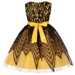 Wholesale Robe de danse pour enfants Robe brodée sans manches de filles européennes et américaines Robe de mariée brodée sans manches de demoiselle d honneur