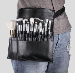 Maquiagem on-line-New Fashion Makeup Escova Stand Holder 22 Pockets Strap Black Belt cintura Bag Salon maquilhador Escova organizador