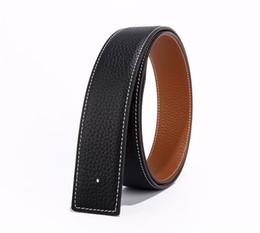 Argentina Cinturón de marca para H Hombres de cuero Leath cinturón de cuero de alta calidad para las mujeres de cobre puro hebilla de cinturón de doble cara de negocios regalos senior Suministro