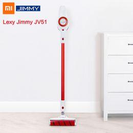2019 colectores de polvo Xiaomi JIMMY JV51 Aspirador inalámbrico de mano Filtro de ciclón inalámbrico portátil Mi Alfombra Colector de polvo Barrido limpio Inicio rebajas colectores de polvo