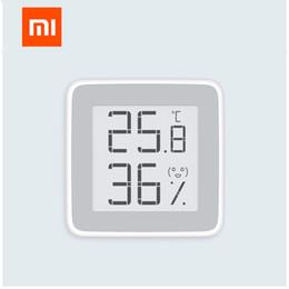 Wholesale Original xiaomi mijia Mi miaomiaoce Thermomètre Capteur d humidité de la température avec écran LCD Écran à encre électronique E ink numérique