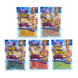 Argentina DIY 100 g / bolsa Play Sand Indoor Magic Soft Sand Children aprendiendo juguetes educativos regalo de Navidad 5 colores cheap magic sand toy Suministro