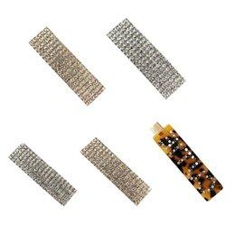 Argentina Moda de lujo de cristal Rhinestones pinzas para el cabello Leopardo acrílico horquilla accesorios para el cabello para mujeres cartas Headgrip Headwear nominal Suministro