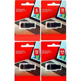 Lecteur de mémoire de 64 go en Ligne-100% de vente à chaud 64 Go 128 Go 32 Go 16 Go 8 Go 4 Go USB 2.0 clé USB clé USB mémoire clé disque de détail emballage sous blister