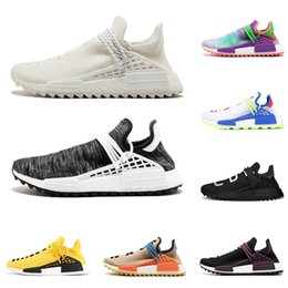 3e8ce32382374 2019 PW NMD Human Race PHARRELL WILLIAMS men women running shoes Nerd black  white holi Equality Sun glow mens trainer sports sneakers