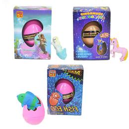 Venta caliente prueba EVA pasó unicornio sirena y peces tropicales huevo de Pascua novedad burbuja niño juguete pequeño regalo con paquete al por menor desde fabricantes