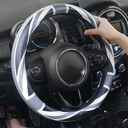 volantes vw passat Rebajas Volante del coche de la cubierta de piel Portector Union Jack Decoración para Mini Cooper S JCW Una Clubman R55 R56 F60 Accesorios Countryman