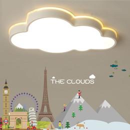 2019 sala de estudio para niños lustre plafond moderne Nubes Modernas Luces de Techo Led para el Dormitorio Sala de Estudio Habitación de Niños Niños Rom Dibujos Animados Niños Luces sala de estudio para niños baratos