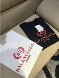Novas camisas pretas para mulheres on-line-2019 novo Verão designer camiseta impressão preto / BRANCO T-Shirt Das Mulheres Tops T-shirt de Algodão de Manga Curta Tshirt Womens duplo B Tops Tees