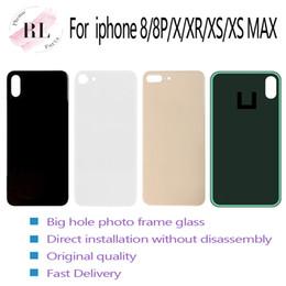 Наклейка для аккумулятора iphone онлайн-Для iPhone 8 8 плюс X XS MAX батареи стекло заднее стекло замена задней крышки корпус большое отверстие камеры Нет разборки с наклейками