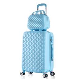 Canada Hot femme valise à roulettes 2PCS / SET 20 24 pouces trolley étudiants Voyage spinner mot de passe bagages mode nouveau Cosmeticbag cheap hot suitcases Offre