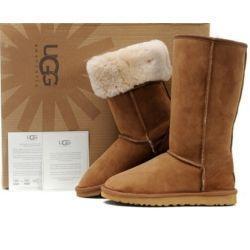 Bottes hautes pour femmes, style australien, bottes de neige pour femmes, 100% bottes en cuir de vachette véritable, hiver chaud, femme en plein airUGGDes chaussures ? partir de fabricateur