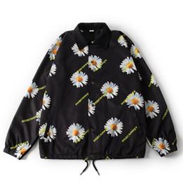 uomini di fiore giacca bomber Sconti Giacche vintage hip-hop Uomo Donna Fiori pieni Stampa Casual Giacche a vento Streetwear Bomber blu nero