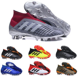 mens high lace up boots Coupons - Mens High Ankle Youth Football Boots Predator 18+x Pogba FG Accelerator DB Kids Soccer Shoes PureControl Purechaos mens football cleats