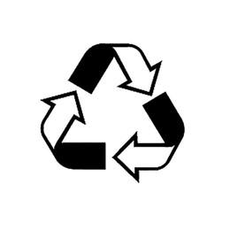 2019 autoadesivo di riciclaggio 17 * 16.4 centimetri RICICLO SIMBOLO - Auto, camion, notebook, vinile adesivo adesivo uno slogan unico avviso Decor decalcomanie autoadesivo autoadesivo di riciclaggio economici