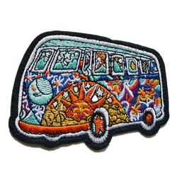 10 см вышивка патч шить железо на патчи Тотем автобус вышитые значки для сумка джинсы шляпа футболка DIY аппликации ремесло украшения от Поставщики украшение автобуса