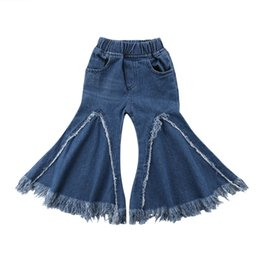 38060f4eed8 newborn baby girl jeans Promo Codes - 2019 New Fashion Newborn Baby Girls  Jeans Trousers Kids