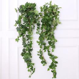 1.2 M / 47.24 '' Falso Guirlanda Verde Artificial Pendurado Plantas de Plástico Deixa Ivy Spray Vine Wall Decor Folha Do Falso Do Casamento Do Jardim Da Parede Deco de