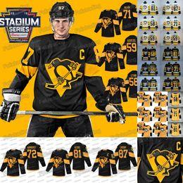 c41589421 87 Sidney Crosby 2019 Stadium Series Pittsburgh Penguins 30 Matt Murray 58 Kris  Letang 81 Phil Kessel Jake Guentzel Evgeni Malkin Jerseys