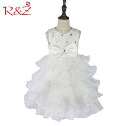 vêtements de marque z Promotion Rz Filles Robe Nouvelle Marque Fille Robe D'été 3-8 Ans Floral Filles Robe Vestidos 6 Couleurs Fête De Mariage Bébé Vêtements K1 Q190522