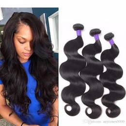 2019 tecelagem longa e barata Onda do corpo peruano virgem remy extensões de cabelo humano cor natural Feixes de cabelo humano brasileiro cabelo peruano tecer 100g / pacote