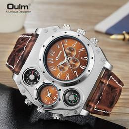 Nuovi uomini orologi orologi online-Nuovo modello OULM Watch Men Quarzo Sport cinturino in pelle Orologi Moda maschile Orologio da polso Orologio di moda Masculino Relojes
