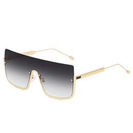 Harzkreuze für online-2019 New Big Box Halbrahmen Einteilige Sonnenbrille Fashion Big Box Marine Sonnenbrille Männer Und Frauen Cross-Border Square HD Objektiv Sonnenbrille