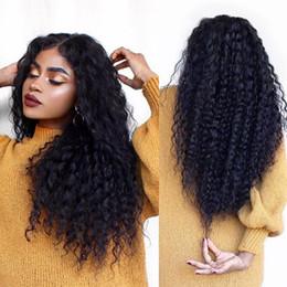 peluca de encaje de seda peruana superior virgen Rebajas Kinky Curly Silk Top Lace Front Pelucas de cabello humano Virgin Virgin Glueless Full Lace Wig Color de cabello humano # 1B para mujeres negras