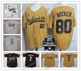 Vanderbilt Commodores 2019 CWS Custom Любое имя Номер Белое золото Черное сшитое # 51 JJ Bleday 19 Стивен Скотт Бейсбол Джерси NCAA от