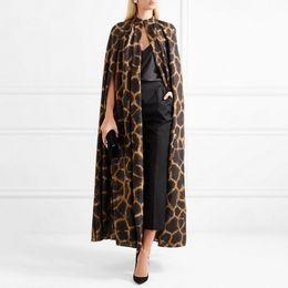 2019 plus größe ledertasche trenchcoat [menkay] Weibliche Strickjacke Mantel O Neck Mantel Sleeve Print Leopard Maxi Mäntel Für Frauen 2018 Herbst Vintage Fashion Tide Y190827