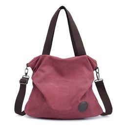 5ef6023da225 Womens Casual Canvas Shoulder Bags Messenger Bags Crossbody Bag Female Tote  Ladies Handbag Large Capacity