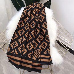 Ponchos de lã preta on-line-Moda feminina outono e inverno cachecol xale preto mãe marrom lã cachecol xale 180 * 70 cm acessórios elegantes