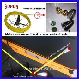 Inspección de cable online-Tubería de inspección de tubería Cable roto Reparación de reparación Tubo Cabezal de la cámara Cable de repuesto Pieza de repuesto Conector hembra