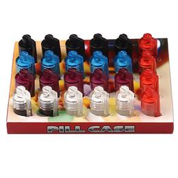 Bottiglie pillola piccolo plastica online-Snuff Pill Box Box Plastic 31mm Bottle Dispenser più corto Tubo di fumo nasale Contenitore di bottiglia di vetro Stash Jar Contenitore piccolo