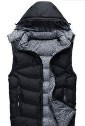 2020 colete branco com capuz Mens Coletes Outono-Inverno de Down casacos sem manga cor sólida Designer Casacos com capuz colete branco com capuz barato